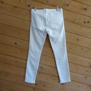 AG Mid Rise Cigarette Prima Skinny Jeans White 26R